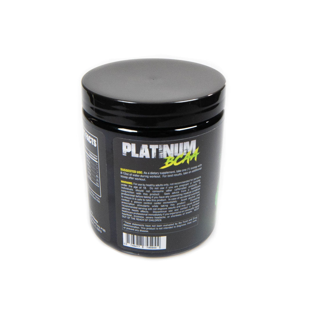 Platinum Fitness Lemon Lime BCAAs (Back)