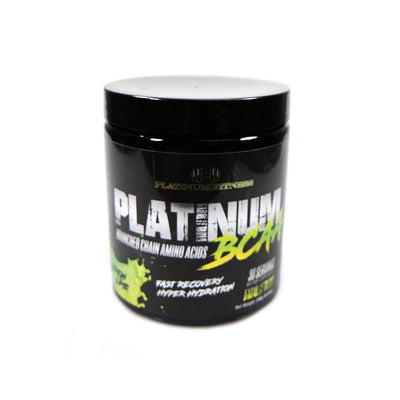 Platinum Fitness Lemon Lime BCAAs (Front)