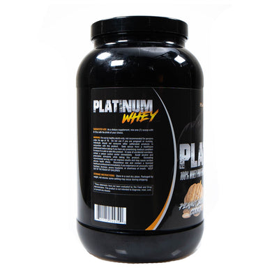 Platinum Fitness Peanut Butter Cookie 100% Whey Protein Isolate (Back)