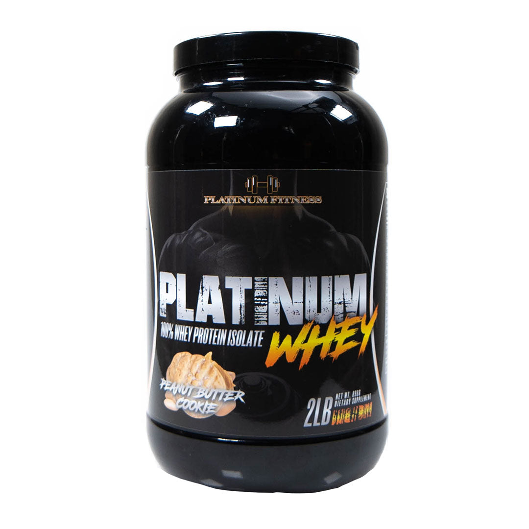 Platinum Fitness Peanut Butter Cookie 100% Whey Protein Isolate (Front)
