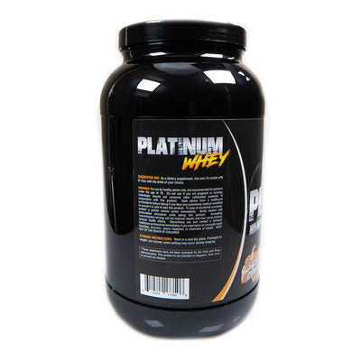 Platinum Fitness Salted Caramel 100% Whey Protein Isolate (Back)