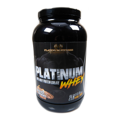 Platinum Fitness Salted Caramel 100% Whey Protein Isolate (Front)