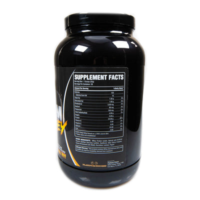 Platinum Fitness Salted Caramel 100% Whey Protein Isolate (Supplement Facts)
