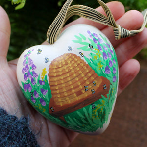 Bee hive beekeepers heart