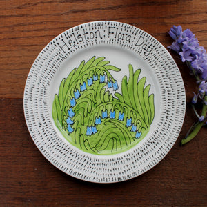 Bluebells Flora Day Plate by Laura Lee Designs
