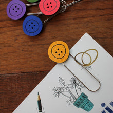 Load image into Gallery viewer, Colourful button bookmark by Laura Lee designs in Cornwall