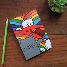 Load image into Gallery viewer, Rainbow cats note book by Laura Lee Designs Cornwall