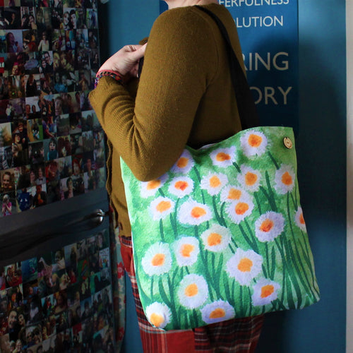 Daisies Luxury Tote - Fully Lined Bag - Gardening - 3 sizes