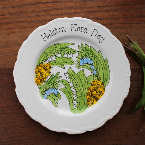 Helston Flora Day hand painted plate by Laura Lee Designs