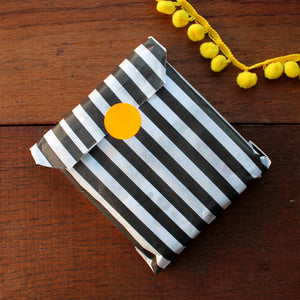 Striped bag gift wrap