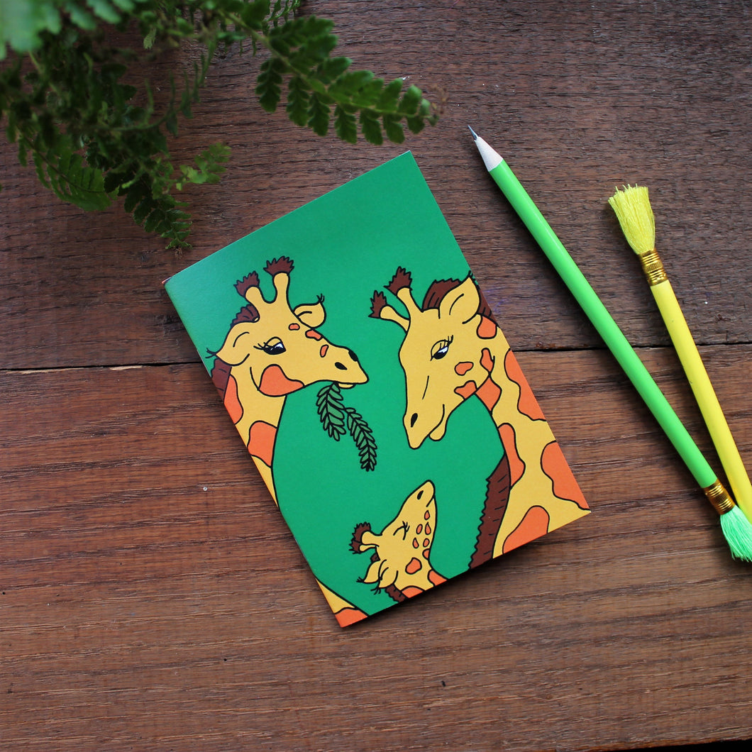 Giraffe notebook colourful pocket book by Laura Lee designs Cornwall