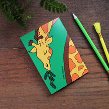 Load image into Gallery viewer, Giraffe notebook colourful stationery by Laura Lee designs in Cornwall
