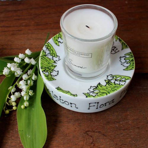 Flora Day candle holder lily of the valley by Laura Lee Designs