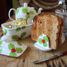 Load image into Gallery viewer, Hand painted holly toast rack by Laura Lee Designs Cornwall