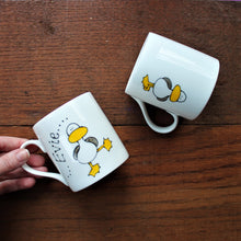 Load image into Gallery viewer, front and back of dancing bird mug by Laura Lee Designs Cornwall