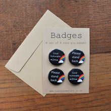 Load image into Gallery viewer, Social distancing badges by Laura Lee Designs