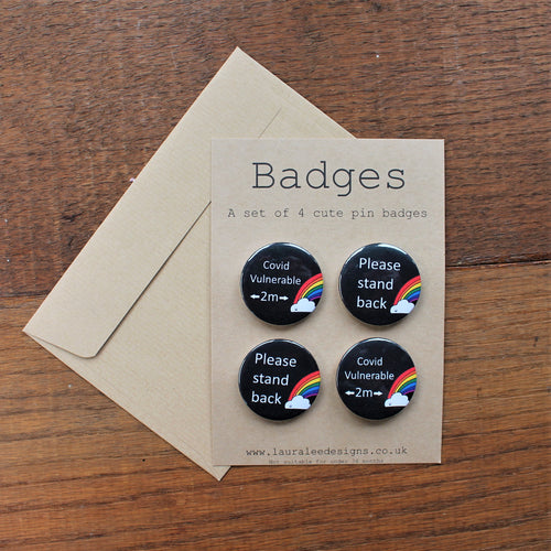 Social distancing badges by Laura Lee Designs
