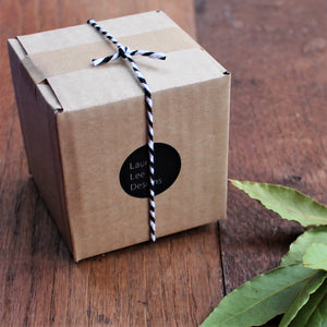 Laura Lee Designs Kraft Gift box with black and white bakers twine