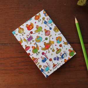 Knitting chickens notebook by Laura Lee Designs Cornwall