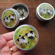Load image into Gallery viewer, Sheep tins colourful craft storage by Laura Lee designs Cornwall