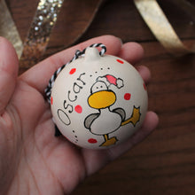 Load image into Gallery viewer, personalised bauble name decoration Christmas Laura Lee Designs