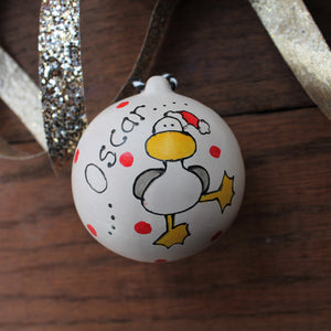 Duck bauble by Laura Lee Designs