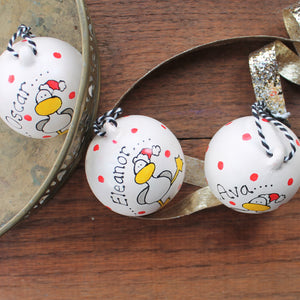Hand painted bauble by Laura Lee Designs