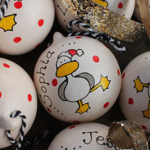 Seagull bauble by Laura Lee Designs Cornwall