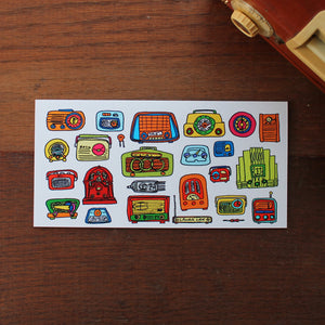 Vintage radio fathers day card by Laura Lee Designs