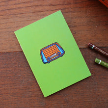 Load image into Gallery viewer, Vintage radio note book in green by Laura Lee Designs