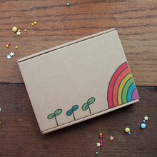 Load image into Gallery viewer, Rainbow letterbox gift box by Laura Lee Designs