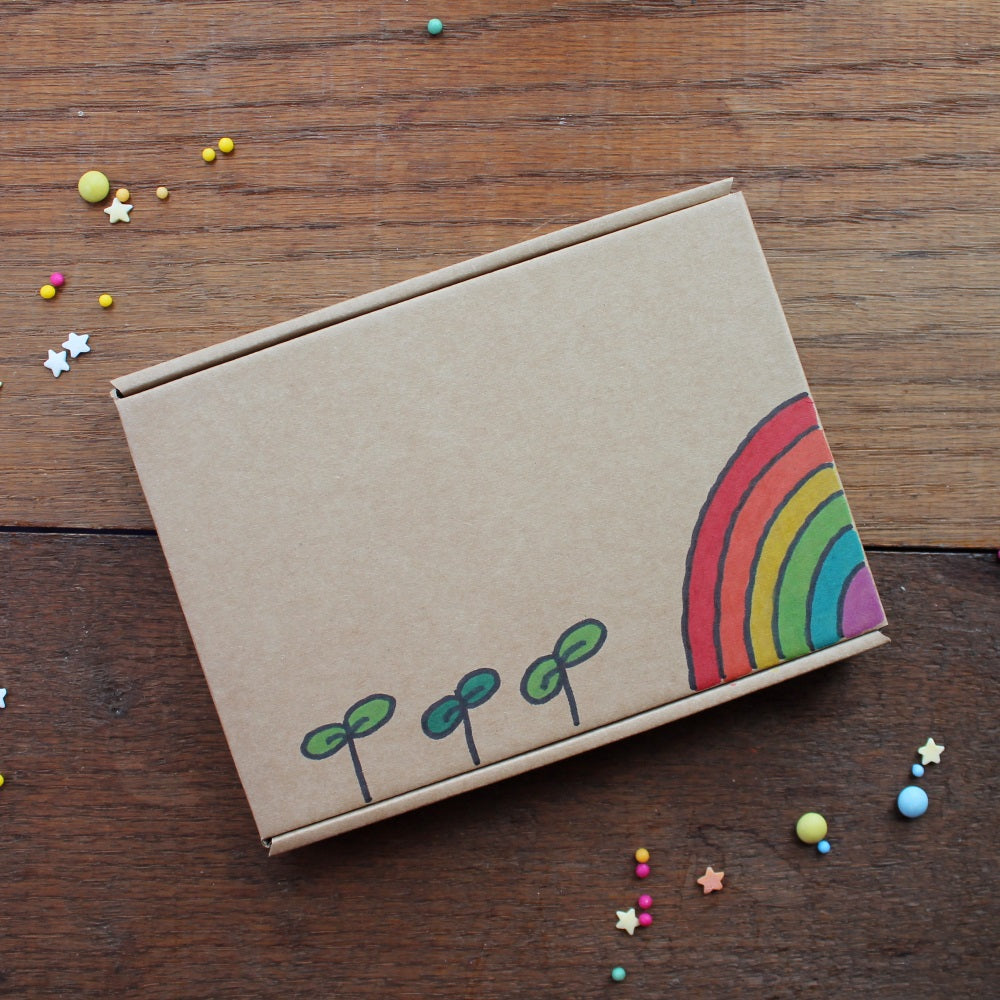 Rainbow letterbox gift box by Laura Lee Designs