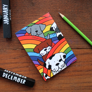Rainbow Dogs notebook by Laura Lee Designs