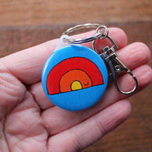 Load image into Gallery viewer, Merry Weather rainbow keyring by Laura Lee Designs Cornwall