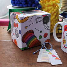 Load image into Gallery viewer, Sewers mug sewing machine mug gift box by Laura Lee Designs in Cornwall