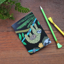 Load image into Gallery viewer, Sloth Notebook- Single Or Set - 36 Plain Pages - Pocket Size - 100% Recycled - Eco