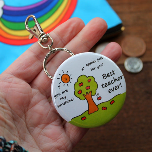 Best Teacher Ever bottle opener keyring by Laura Lee Designs