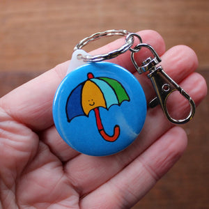 Merry Weather umbrella keyring by Laura Lee Designs Cornwall