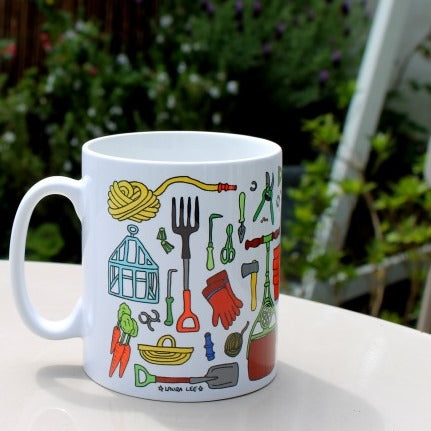 Gardener's mug by Laura Lee Designs