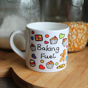 Children's baking fuel mug by Laura Lee Designs in Cornwall