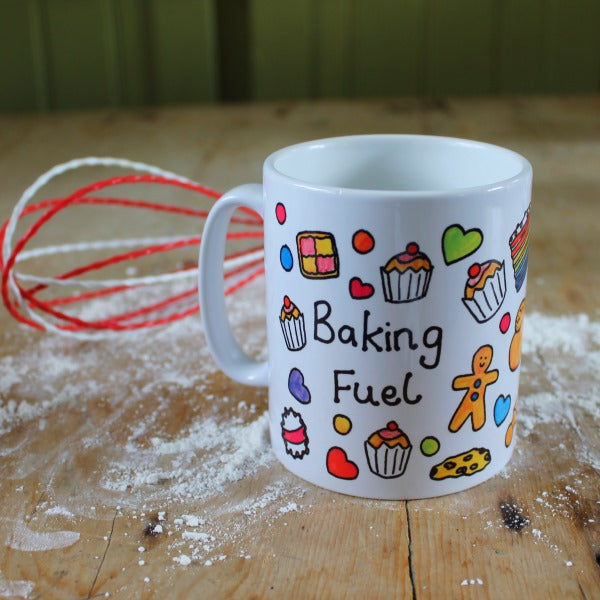 Baking fuel mug by Laura Lee Designs