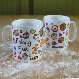 Cooks mug colourful baking mug Laura Lee Designs