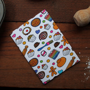 Baker's Notebook Set - 36 Plain Pages - Pocket Size - 100% Recycled - Eco