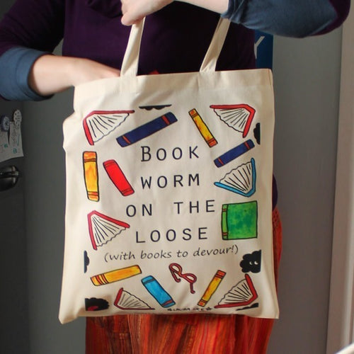 Bookworm Tote Bag - Funny Gift For Readers - Book Lovers - Bookish