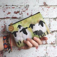 Load image into Gallery viewer, Suffolk sheep zipped purse craft storage bag by Laura Lee Designs Artist Cornwall