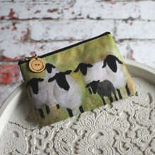 Load image into Gallery viewer, Bright green Suffolk sheep purse Laura Lee Designs Cornwall