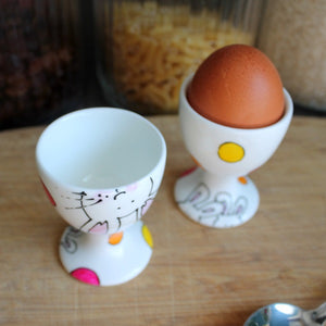 Bunny egg cup and cosy set by Laura Lee Designs