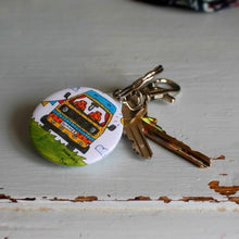 Load image into Gallery viewer, campervan keyring by Laura Lee Designs Cornwall