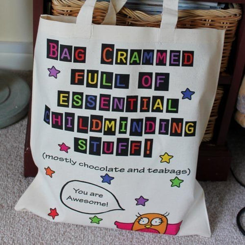 Colourful childminding bag by Laura Lee Designs