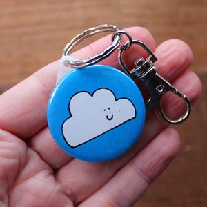 Merry weather cloud keyring by Laura Lee Designs